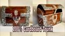 Cardboardcrafts BEST OUT OF WASTE   CARDBOARD STORAGE TRUNK/BOX