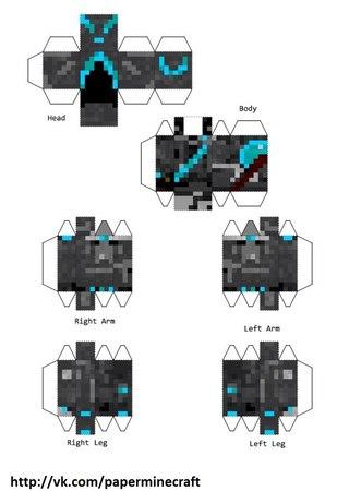 minecraft из бумаги №4-