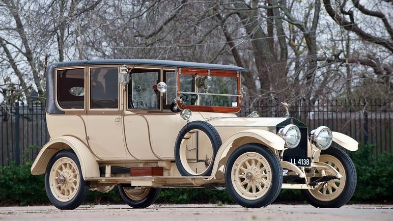 Картинка ретро автомобиль Rolls Royce передок Роллс Ройс Silver Ghost Limousine by Barker JPEG