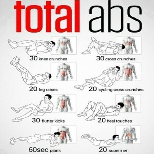 Упражнения для прокачки мышц!