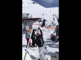 Людей покалечило на лыжном склоне, Грузия.