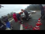 ДТП на объездной дороге города Сочи. Деблокирование пострадавшего