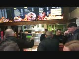 Glasgow late-night revellers dancing to Michael Jackson's Billie Jean in kebab shop