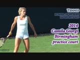2014 Camila Giorgi Birmingham practice court