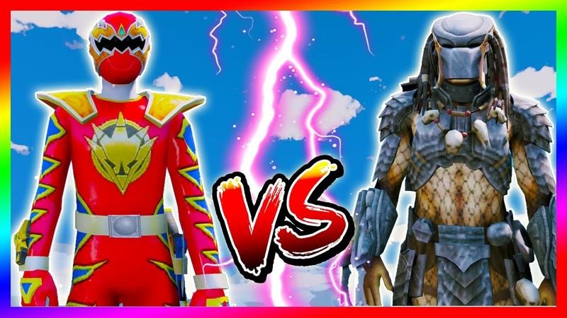 Siêu Nhân Khủng Long Sấm Sét Đại Chiến Quái Thú Không Gian | Dino Thunder vs The Predator |GTA5MODAZ