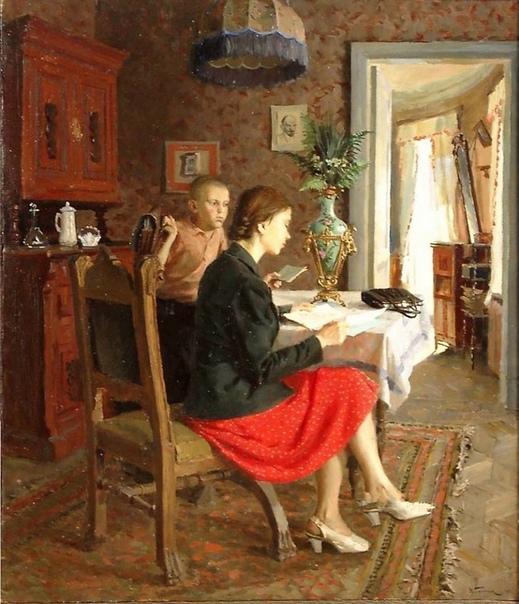 Картина «После экзамена», 1947 год.