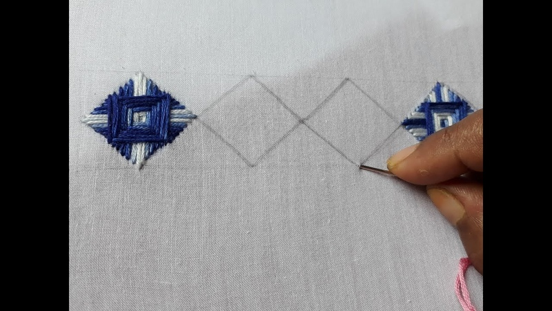 Hand Embroidery Norwich Stitch For Beginners | Hand embroidery tutorial