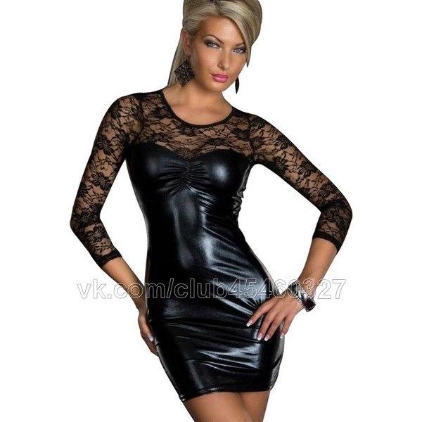 платья с кружевными рукавами фото