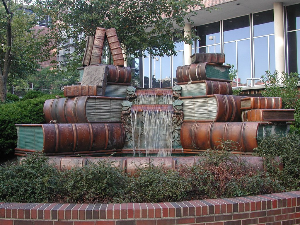 Book Fountain, Main Library (700x525, 316Kb) .