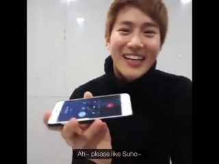 Exo suho called chen during live broadcast just to ask him to whine for the fans