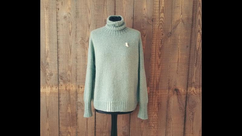 Облачный свитер 1 я часть Спицами МК