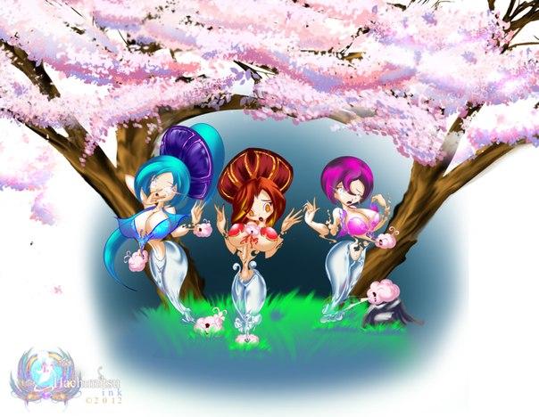 Винкс русалки и аниме, +игра секреты макияжа