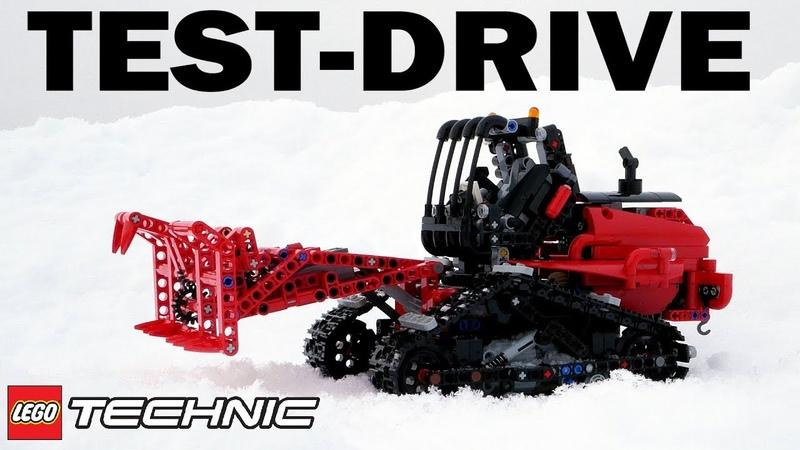 Lego Technic 42094 Motorized Tracked Loader TEST DRIVE