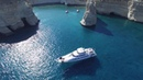 Греческие острова красота с высоты птичьего полета съемка дроном