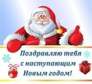 Поздравить с наступающим новым годом брата