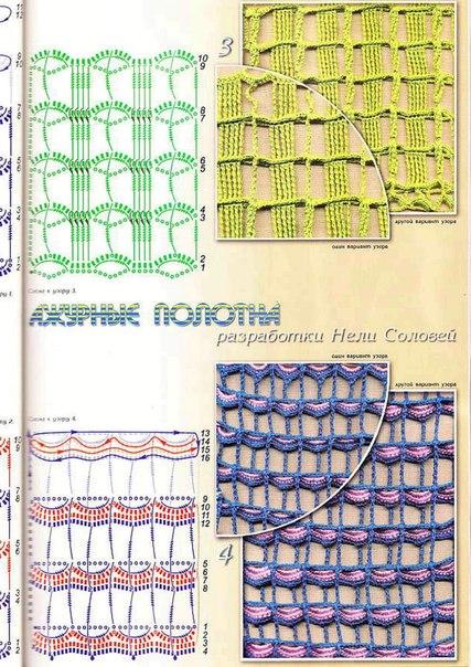 схема вязания сетки крючком (9 фото) - картинка