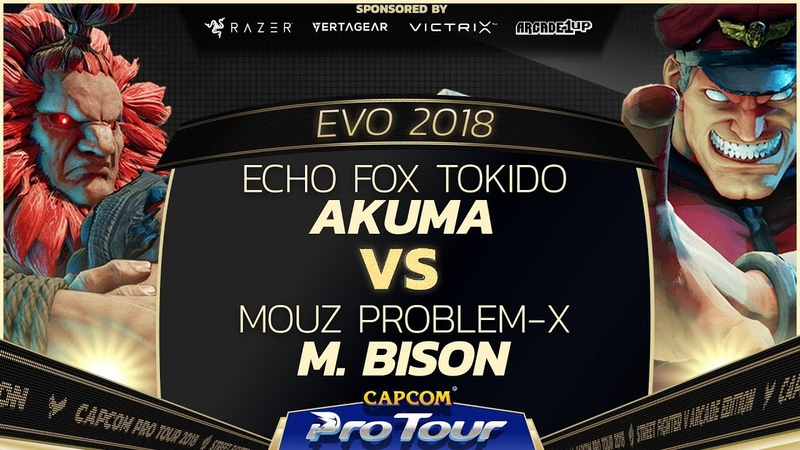 Echo Fox Tokido (Akuma) vs Mouz Problem-X (M. Bison) - EVO 2018 - Grand Final - SFV - CPT 2018