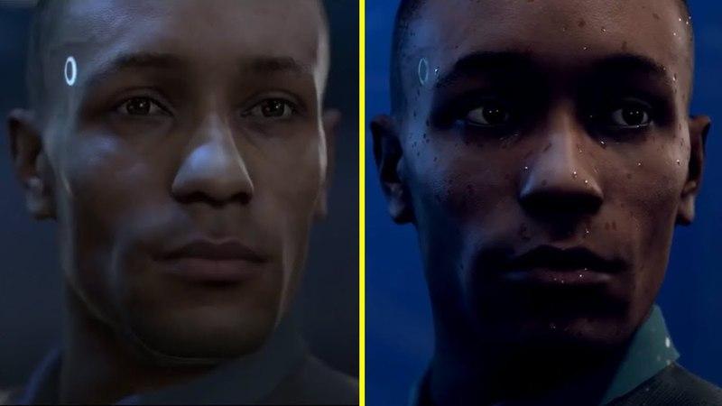 Detroit Become Human PGW 2015 Annuncement Trailer vs Retail PS4 Pro Graphics Comparison