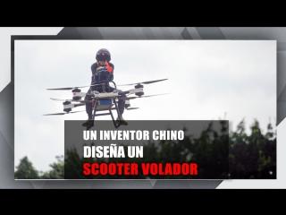 Un inventor chino muestra su 'scooter volador' de diseño casero