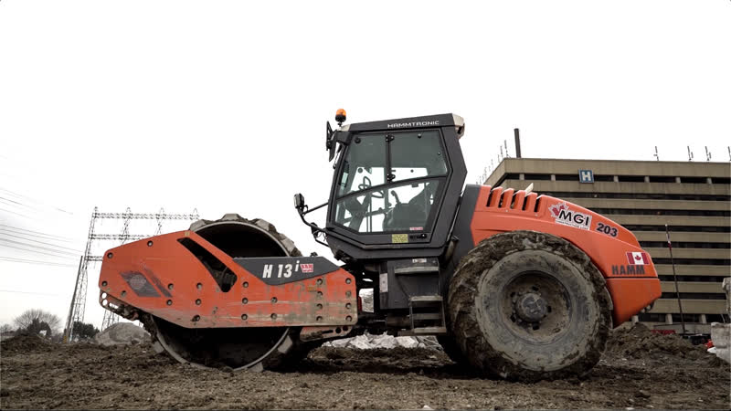 HAMM H13i Compactor   MGI Construction Corp.