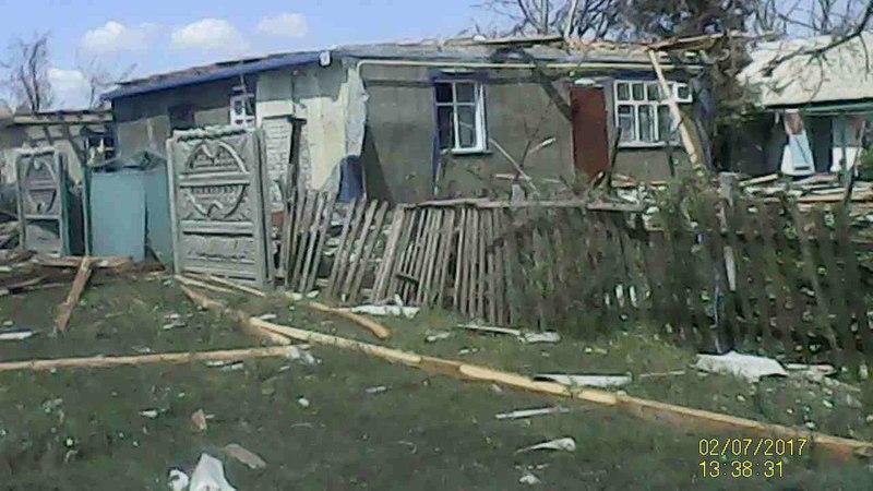 Привітне Золотоніський р-н після урагану 1 липня 2017