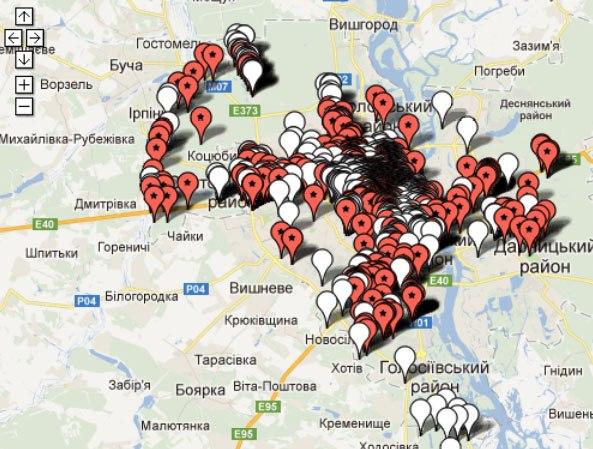 Карта пам'яток Києва