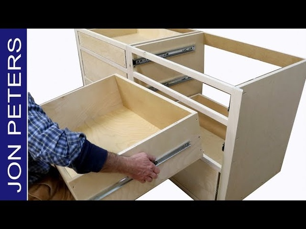How to Build Kitchen Cabinets Install Drawer Slides