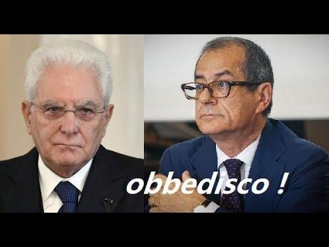 Giovanni Tria e la telefonata con Sergio Mattarella Resto per spirito di patria