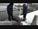 Укладка гидроизоляции на Никольском мосту в Кинешме...