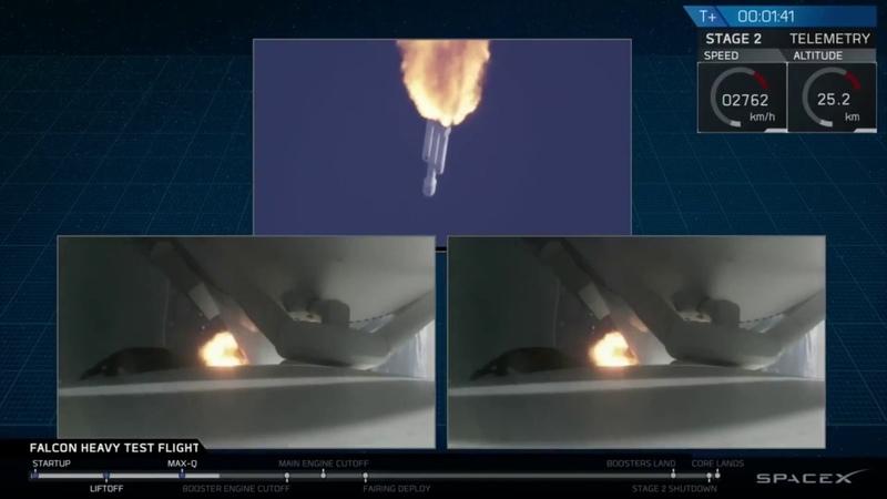 Успешный старт Falcon Heavy и приземление 2-х боковых ускорителей Компании Space X Илона Маска!!