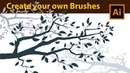 How to Draw Tree Branches Adobe Illustrator Tutorial