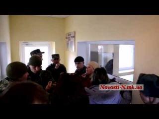 Скандал на ККП воинской части в Николаеве.