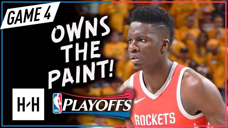 Clint Capela Full Game 4 Highlights Rockets vs Jazz 2018 NBA Playoffs - 12 Pts, 15 Reb, 6 Blocks!