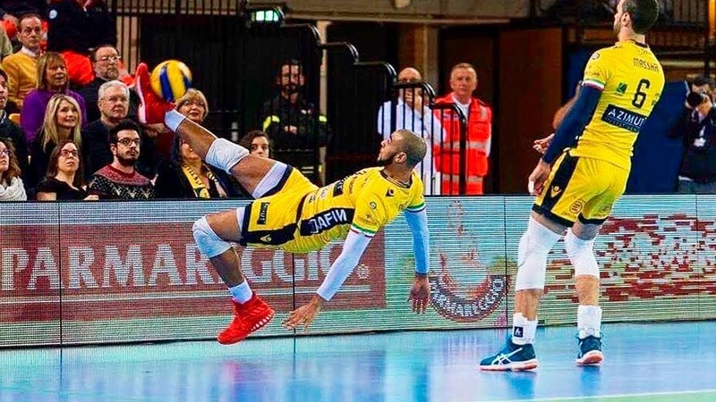 Incredible Volleyball Foot Saves