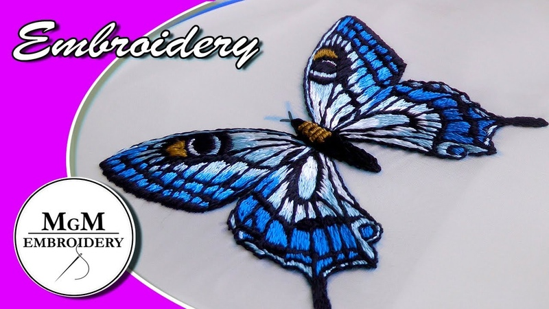 Hand Embroidery Butterfly 🦋 Вышивка бабочка🦋