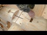 Установка шпилек для связки бревен