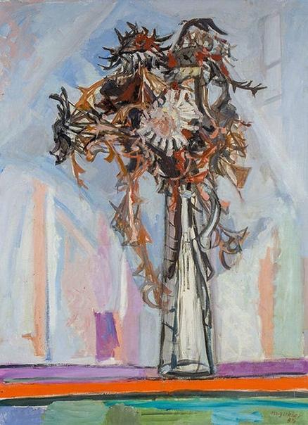 Gubler, Max (1898 - 1973 Цюрих) Чертополох в стеклянной вазе. 1954.