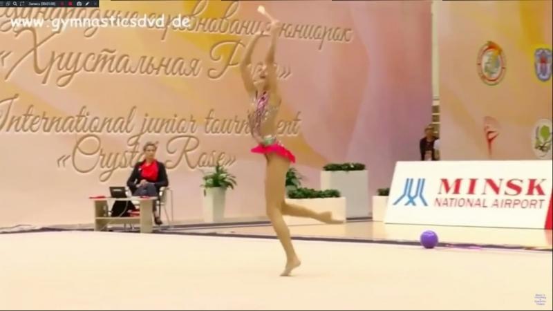 Полина Шматко - булавы (командное многоборье) МТ Минск 2018
