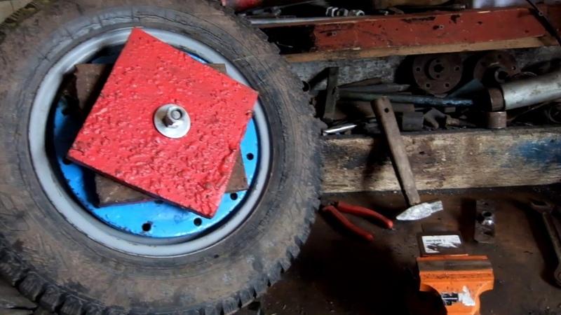 Как быстро и бюджетно закрепить утяжелители на колеса к мотоблоку.