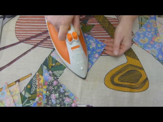 Лоскутное одеяло Треугольники. Шьем легко