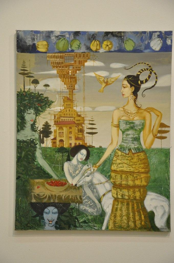 Творческое объединение художников Узбекистана  Заур Мансуров (р. 1979)  Прогулка. 2006  Холст, масло