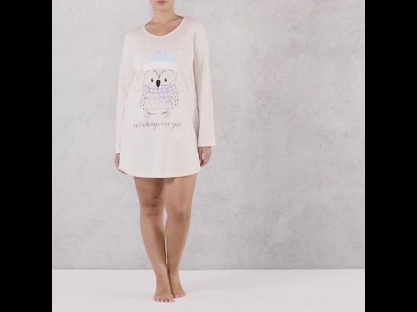 Ava Bear Sleep Tee ночная сорочкапижама с милой совушкой