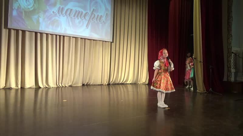 Мария Ходакова 6 лет Модная матрешка