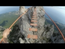 """Подвесной """"Мост страха"""" через зубцы Ай-Петри. Высшая точка над уровнем моря 1234м. (Крым, Ялта)"""
