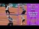 2015 Maria Sharapova Slow Motion Practise in spandex 1080p
