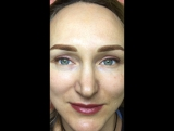 Перманент всех 3-х зон. Брови, стрелка с растушевкой цветной и губы, фото сразу после процедуры