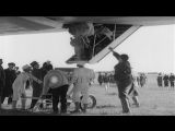 Women passengers assisted disembarking from airship LZ-129 Hindenburg. Ground cre...HD Stock Footage