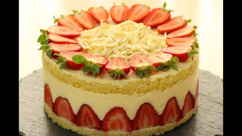 ТОРТ ФРЕЗЬЕ ✧ Клубничный Торт✧ FRAIZIER CAKE RECIPE ✧ FRAIZIER Fransız Çilekli Pasta Tarifi