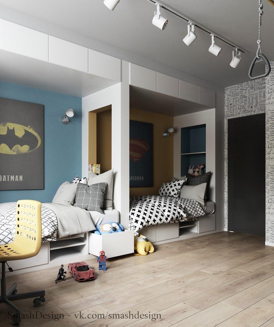 Детская для двух мальчиков, любителей супер героев