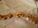 Деревянный паровозик от ярославской мастерской игрушек Лукоморье